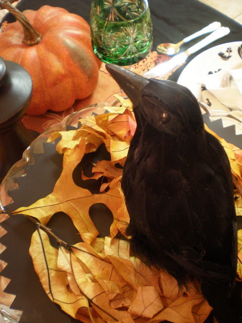 Eating Crow Halloween Tablescape
