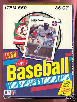 The Fleer Sticker Project 1988 Fleer Baseball Stickers