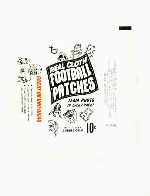 The Fleer Sticker Project: 1968 Topps Test Football Cloth
