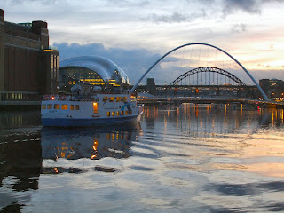 River Tyne and The Quayside at Sunset