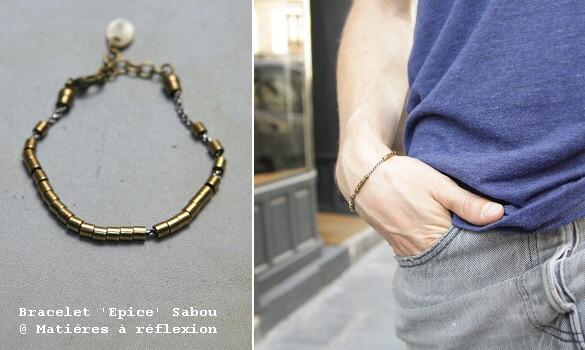 l 39 atelier mati res r flexion bracelet homme sabou. Black Bedroom Furniture Sets. Home Design Ideas