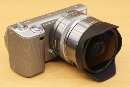 sony nex vcl ecf1 fisheye conversion lens