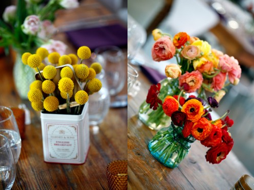 find vintage tins for eclectic center pieces will be the next fun task
