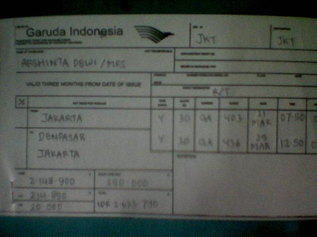 denfrians blog Sekilas Tentang Tiket Pesawat