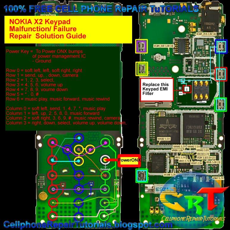 circuit diagram of nokia x2 00 schematic circuit diagram of induction cooker nokia x2 keypad failure, malfunction - repair solution ... #10