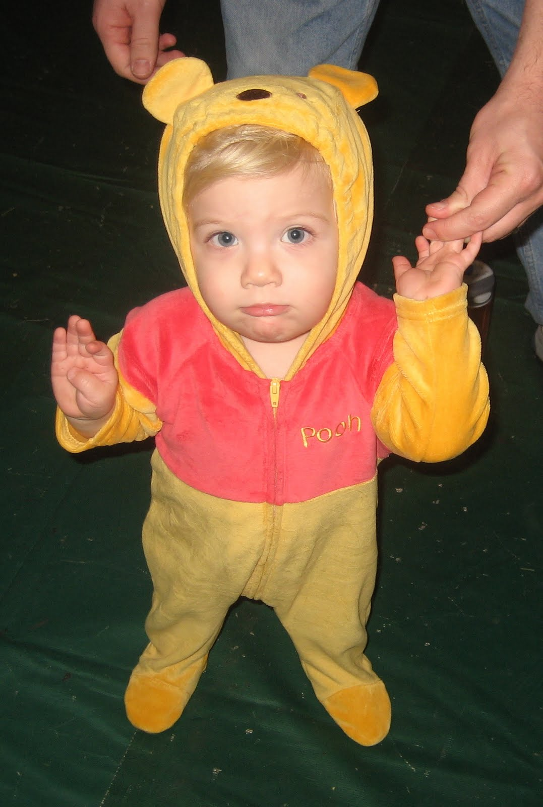 We borrowed an outfit from Noahu0027s buddy Hunter who was too big for this costume last year. Noah is 20 months old wearing a 9 month size Halloween costume!  sc 1 st  the merrell family & THE MERRELL FAMILY: Halloween Thanksgiving u0026 Christmas 2011 Here ...