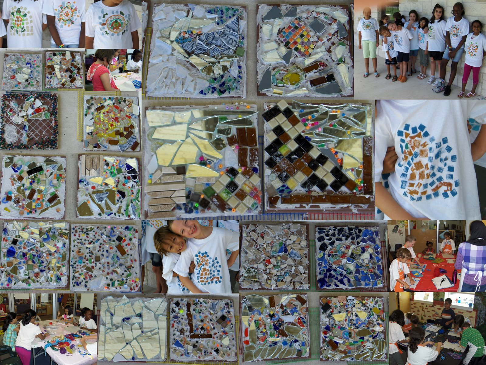 Making Mosaic Tiles And T S Art Camp