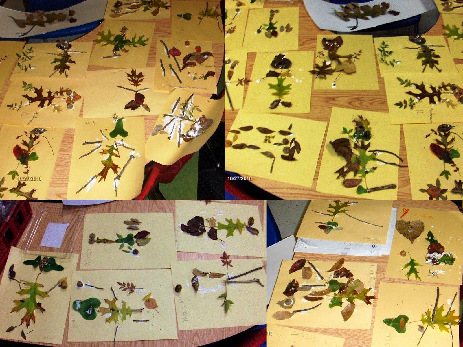 Art & Painting at WBR school: Leaf people art kindergarten