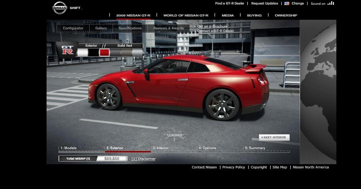 Nissans For Sale >> Nissan GT-R Configurator - 2009gtr.com