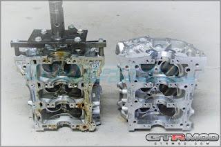 VR38 vs VQ35 Block Pictures