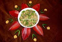 Oats & Vazhlai Poo(Banana Flower) Usili / Vazhlai Poo Paruppu Usili recipe/ Paruppu Usili Recipe