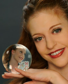 Yup, that's me with my playing cards and my crystal ball