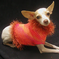 Orange Wool Dog Sweater...buy it now!