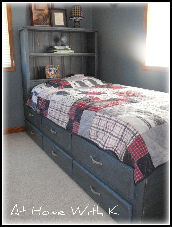 Remodelaholic   Blue Kids Bed; Guest