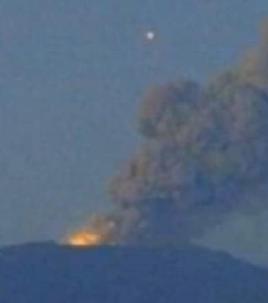 Bright Orb Filmed Over Volcano In Iceland Latest Ufo Sightings
