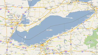 Lake Erie Map About Lake Erie   Eutrophication of Lake Erie Lake Erie Map