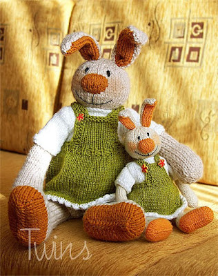 knitted rabbit, knitted bunny