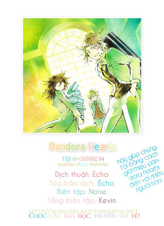 Pandora Hearts chương 035 - retrace: xxxv madness of lost memories trang 1