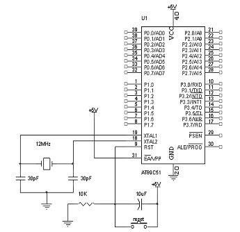 Rangkaian Sistem Minimum Mikrokontroler AT89C51