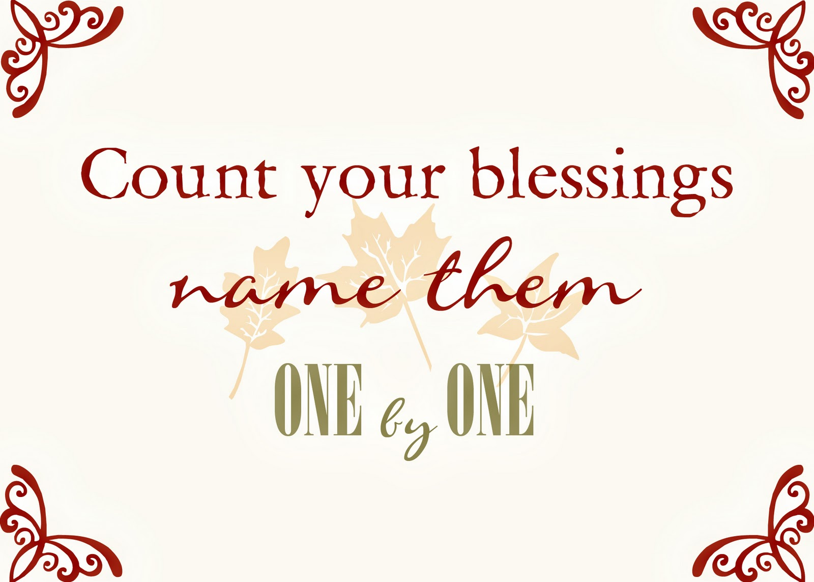 Saying It Sweet Count Your Blessing Free Printables