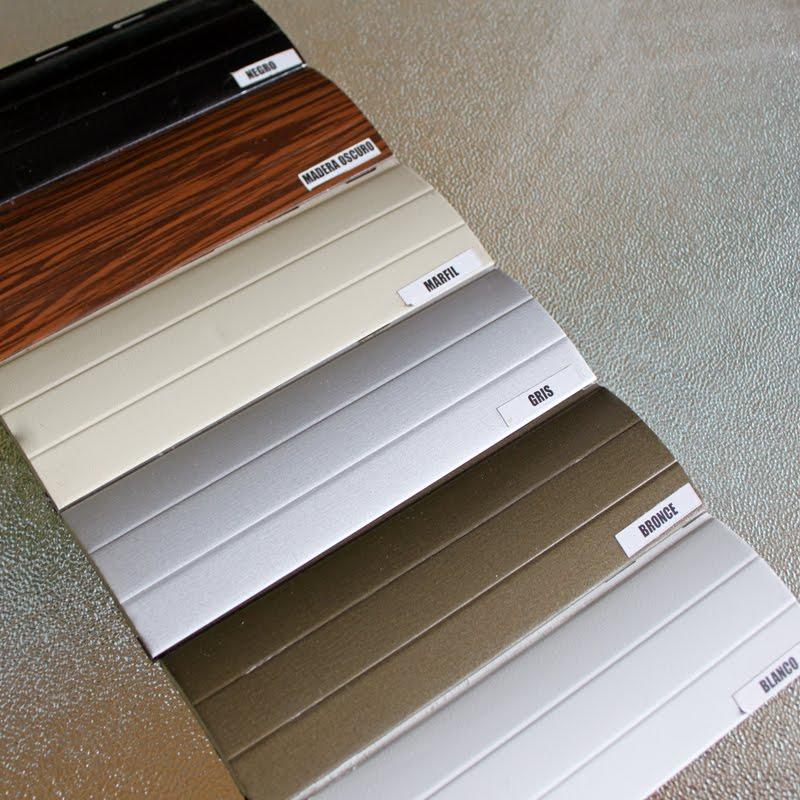 Aberturas molfino cortinas de enrollar en aluminio for Colores de perfiles de aluminio