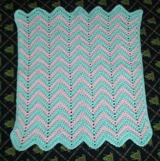 Free Double Crochet Ripple Baby Afghan Pattern Easy