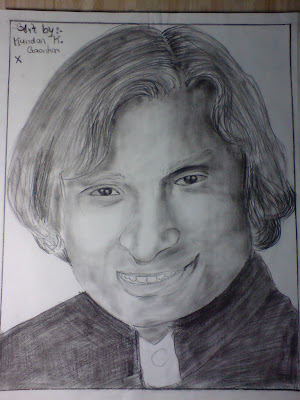 Kundan Art Gallery: abdul kalam pencil sketches