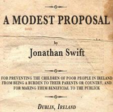 A Big Blog Of Irish Literature A Modest Proposal By Jonathan Swift