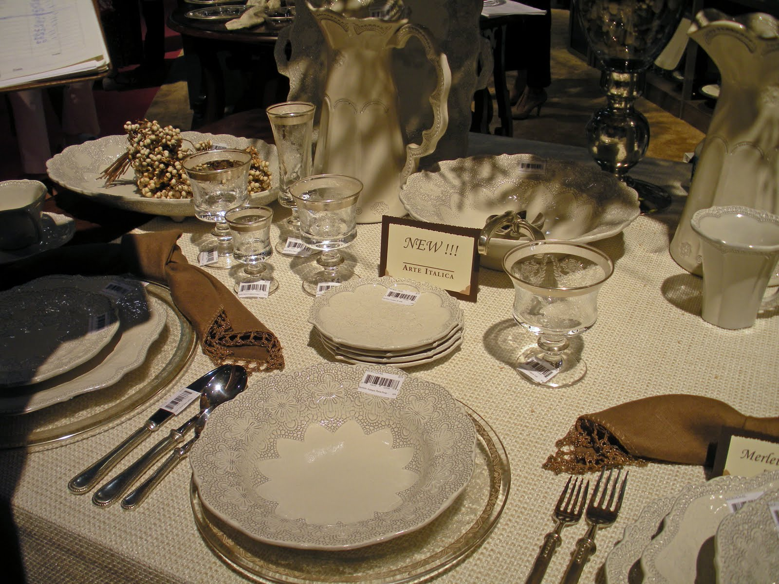 Arte Italica Stemware Beadboard Upcountry Autumn Table Settings In Nyc
