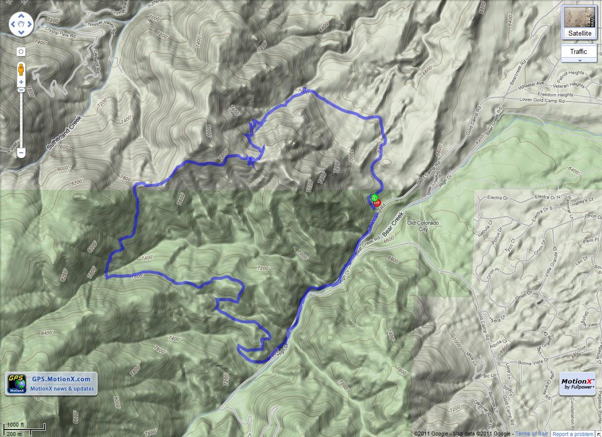Section 16 Palmer Loop Trail - Colorado Springs, Colorado ...