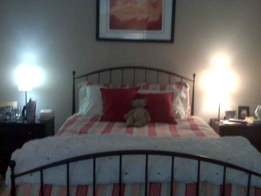 these are a few of christina 39 s favorite things our new bed. Black Bedroom Furniture Sets. Home Design Ideas
