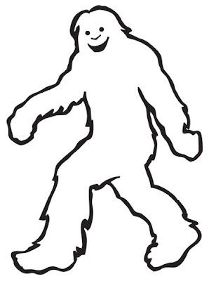 bigfoot outline - photo #2