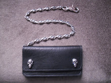 ( 2 )       stainless steel skull and wallet