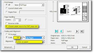 custom paper size revit city