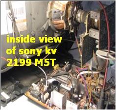 electronics repair made easy: SONY TV MODEL KV 2199 M5T REPAIR -part 1