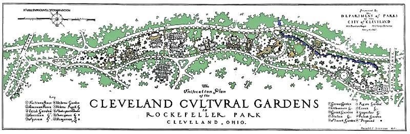 All Things Cleveland Ohio: The Cleveland Cultural Gardens