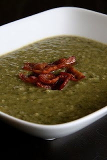 White bean and ramp soup