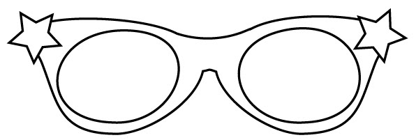 coloring pages sunglasses - photo#9