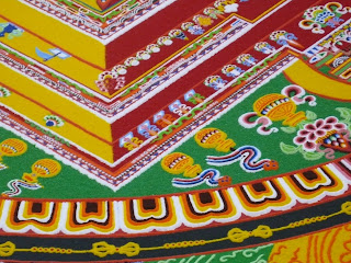 detail of tibetan Sand mandala