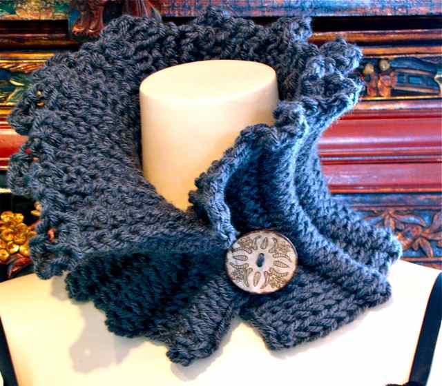 The New Crochet Cowl Scarves New Tunisian Crochet Cowl Scarf