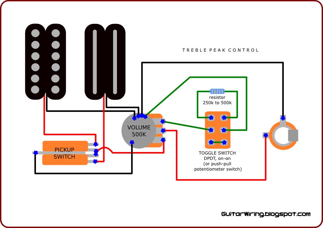 How To Wiring Guitar Pickups : the guitar wiring blog diagrams and tips guitar wiring for metal maniacs two pickups version ~ Hamham.info Haus und Dekorationen