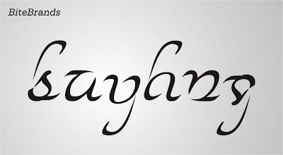 sejarah ambigram pengertian definisi arti makna arti bentuk logo visual desain grafis tipografi huruf kreasi contoh gambar