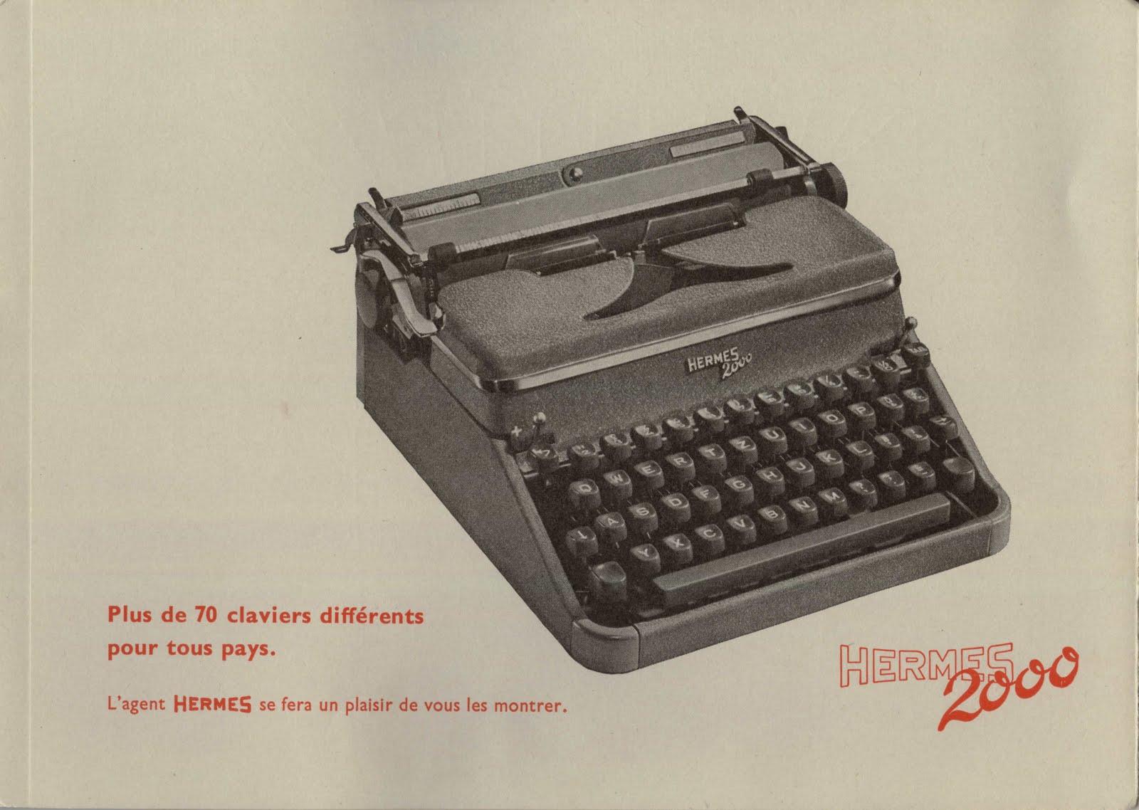 manual typewriter diagram shear and moment generator retro tech geneva ephemera hermes 2000