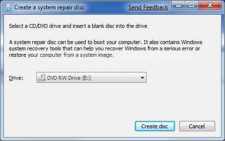 how to create a windows 7 installation disc