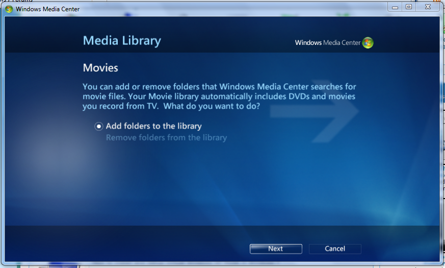 How to Setup Media Center Movie Library in Windows 7