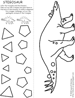 Give Your Octopus a Paintbrush (or 8): Stegosaur Cut-and