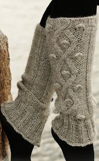 Комментарий: Вязаные гетры Вязание спицами.