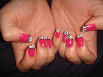 Tips to be beautiful...: My new hot pink zebra nails!!!