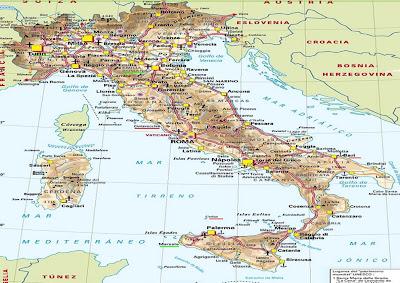 Aeropuertos De Italia Mapa.Mapa De Italia