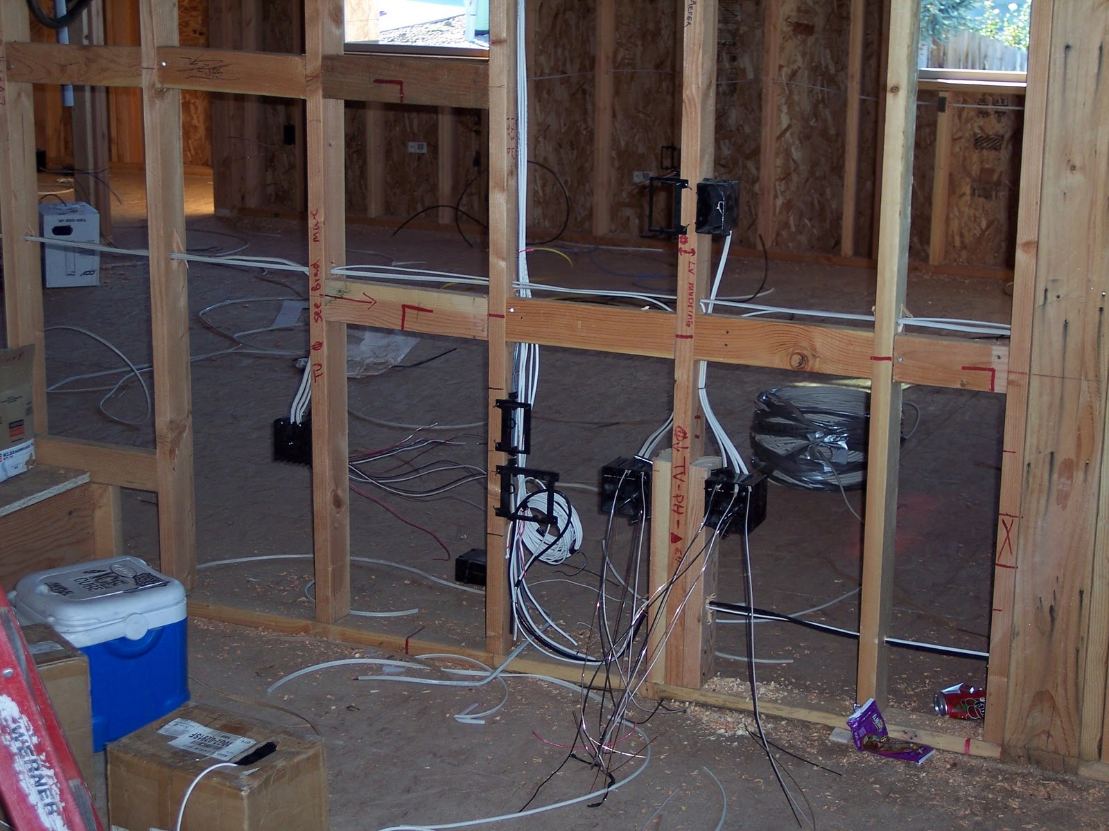 small resolution of a low voltage scoop will be installed here the 5 1 surround sound system is also being set up in this room